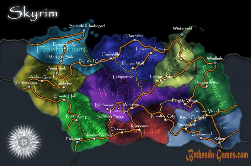 Map of skyrim bethesda games plunge into the game world skyrim map editor gumiabroncs Image collections
